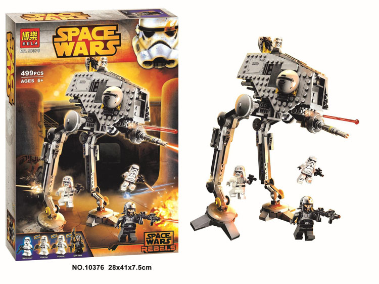 Lepin Pogo Bela Space Star Wars 499pcs 10376 AT-DP Rebels Animated Building Blocks Bricks Compatible Legoe Toys
