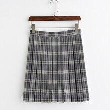 JK Uniforms marble Gray Plaid Skirt Pleated skirts High school Student Skirt adjustable waist add pocket adjustable strap pleated pinafore skirt