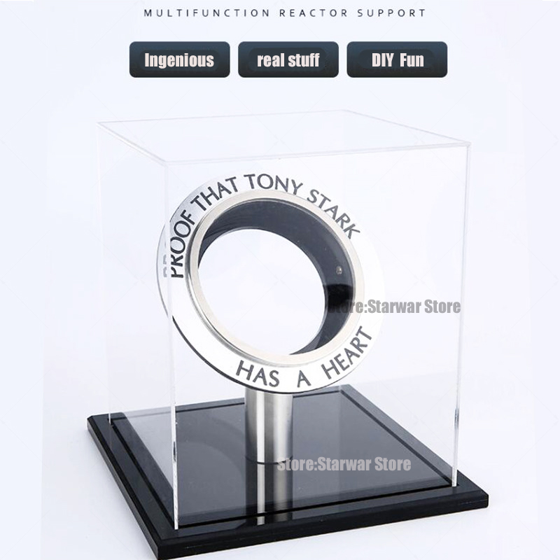 Acrylic Display box Iron Man Arc Reactor A generation of glowing iron man heart model LED