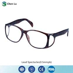 Genuino Ionizing Radiazione di Protezione Frontale E Laterale Completa Occhiali di Protezione X-Ray Schermatura 0.5 Mmpb Piombo Occhiali da Vista