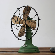Home Accessories Craft Retro Decoration Vintage Fan Miniatur