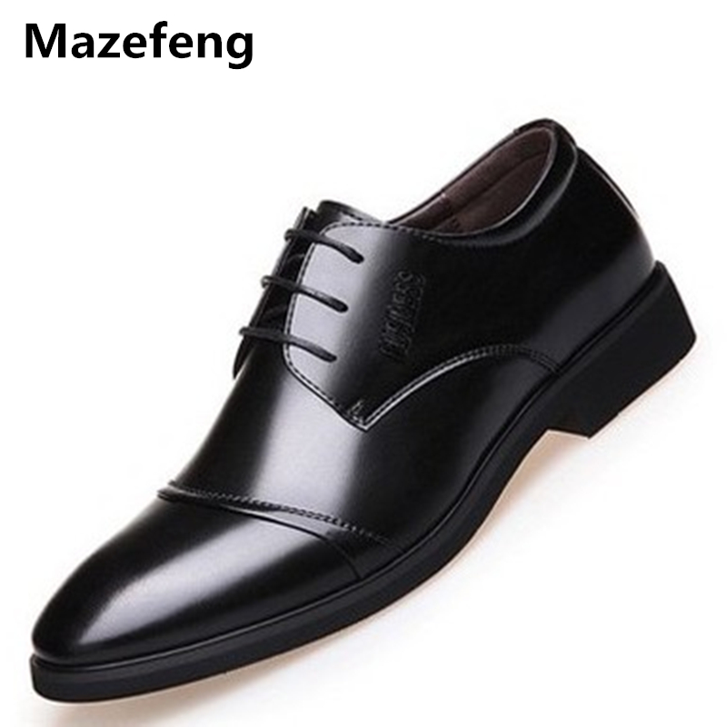 Mazefeng 2018 New Spring Autumn Men Business Dress Shoes Men Retro Vintage Leather Shoes Men Pointed Toe Lace-Up ShoesMazefeng 2018 New Spring Autumn Men Business Dress Shoes Men Retro Vintage Leather Shoes Men Pointed Toe Lace-Up Shoes