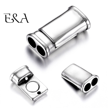 Stainless Steel Magnetic Clasps Double Hole 4mm Leather Cord Clasp Magnet Buckle Connectors DIY Jewelry Making Bracelet Supplies stainless steel magnetic clasp hole 6mm leather cord clasps magnet buckle diy bracelet closure supplies jewelry making findings