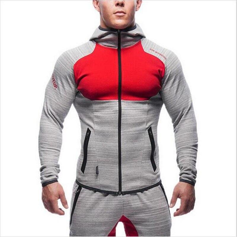 2016 New Fitness Men Hoodies Gymshark Brand Clothing Men Hoody Zipper Casual Sweatshirt Muscle Men s