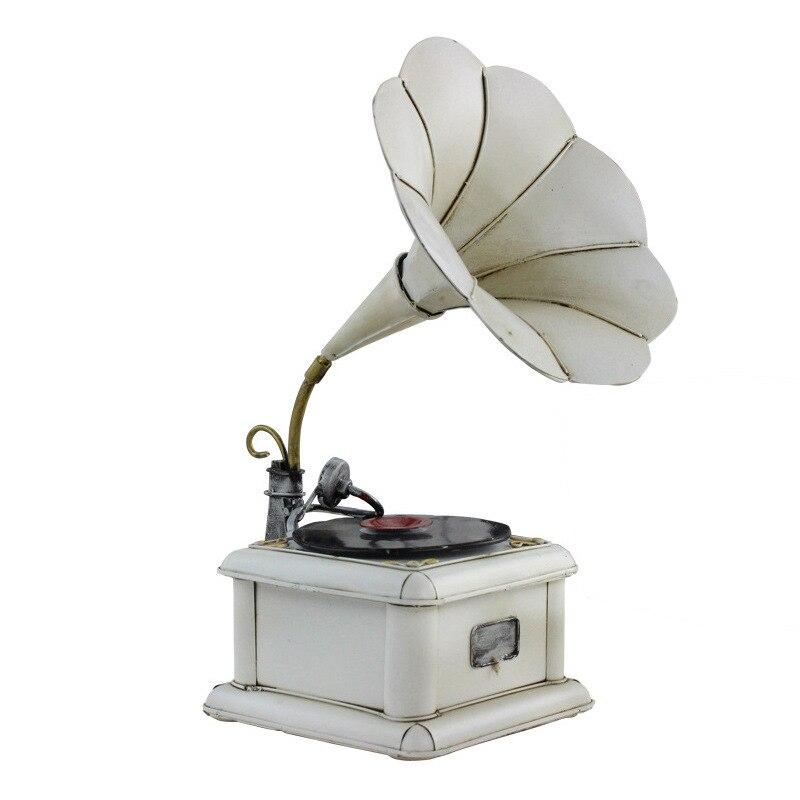 L'europe Rétro Nostalgie Gramophone Enregistreur Modèle Décor Figurines Bar Café Décorations Ornement Photographie Site Accessoires de Décoration Cadeau