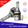 Super Bright 9006 HB4 Headlight Kit LED Cree Chip 72W 120000Lm Car DRL Driving Fog Light HID Car Light Source Car Styling