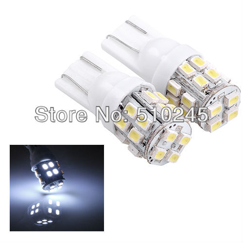 500X Car Auto LED lights T10 194 W5W 20 led smd 1206 Wedge LED Light Bulb Lamp T10 20SMD White Free shipping