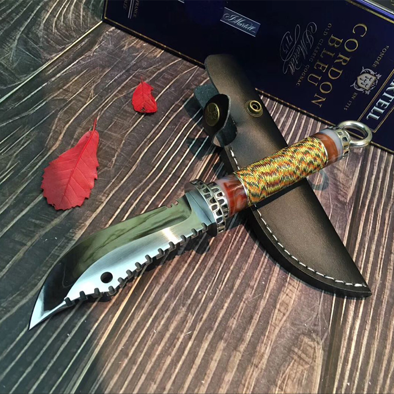 High Hardness TACTICAL GEAR OUTDOORS ARMY HUNTING KNIFE MACHETE Rambo Knifes Fixed Blade Knives Combat Survival Camping EDC Tool 4