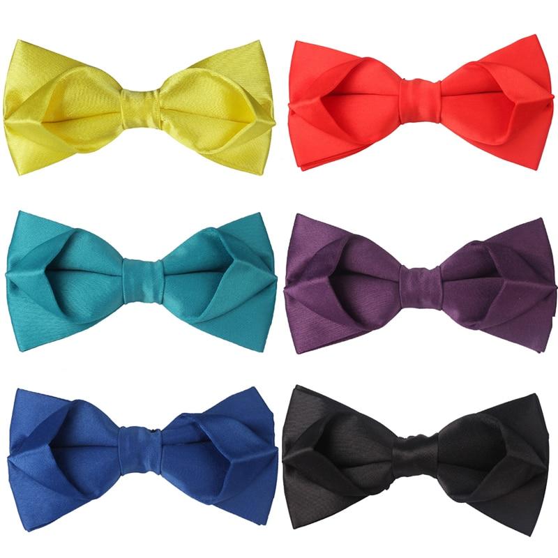 Men Adjustable Self Bow Ties Necktie Neckwear Business Wedding Party Supplie HK