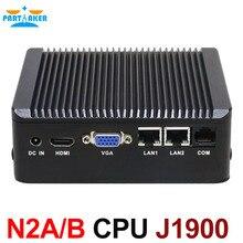 Без вентилятора Мини-ПК 2 * lan с Celeron J1900 Quad Core VGA HDMI брандмауэр многофункциональный маршрутизатор