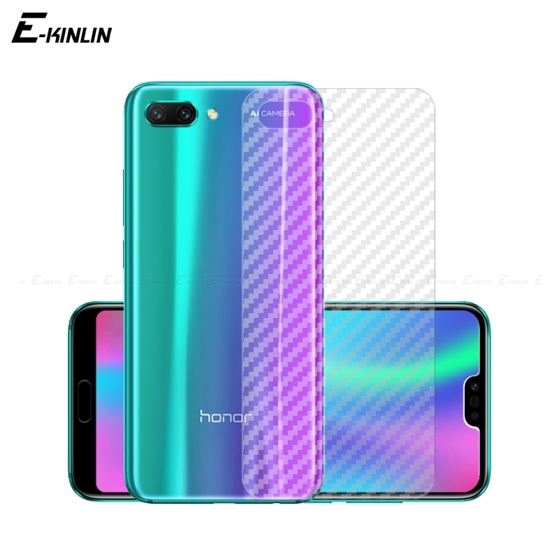 Soft Back Cover Screen Protector For HuaWei Honor 9X 10 8X Max 9 8 Lite 7S Pro 7X Carbon Fiber Sticker Protective Film Not Glass image