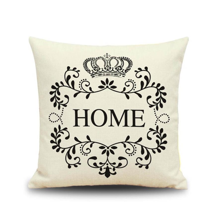 Crown HOME Sofa Waist Throw 45x45cm Cushion Case For Home Decor Sofa Cushions Cojines Decorativos Almofadas Para Sierkussen