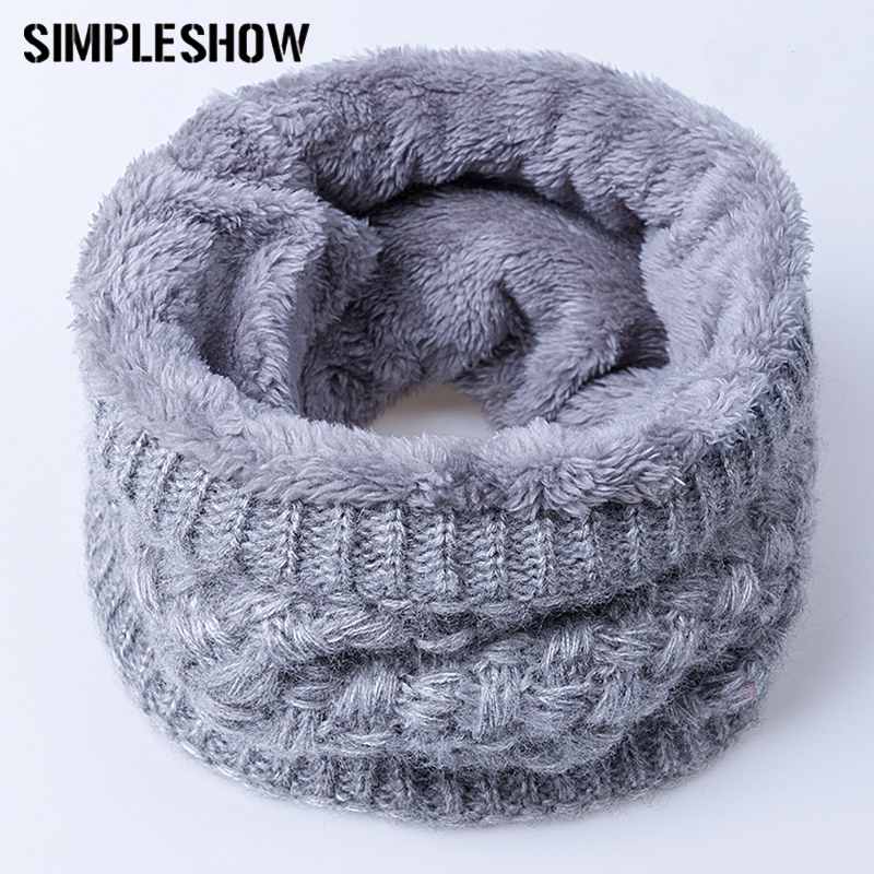 gray Women's Scarves Search For Flights Kids Winter Warm Scarf Neck Warmer Thick Thermal Collar Wraps Neckerchiefs Toddler Baby Plush Neck Scarves Shawl