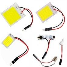 T10 W5W BA9S C5W C10W гирлянда(31 мм 36 мм 39 мм 41 мм) 3 адаптера 18 24 48 COB светодиодный светильник для чтения панели лампочки салона автомобиля купольная лампа