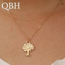81b6117c914a NK947 niña al por mayor Colar nuevo Bijoux cadena de oro árbol colgante  collar para mujer minimalista de joyería collier colar c.