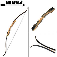 1Set 62inch 30-60lbs Archery Recurve Bow Hunting Bow Right Hand Traditional Wooden Bow Riser Outdoor Sports Shooting Accessories
