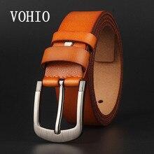 VOHIO Gesigner cinturones tamaño grande 150 cm cinturón de hombre de cuero  genuino cinturones para hombres marca correa hombre e. 534064ac2c4