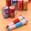 1Pc Novelty Coke Beverage Cans Ballpoint Pen Cute Telescopic Blue ink Ballpen Learning Supplies Creative Gift School Supply
