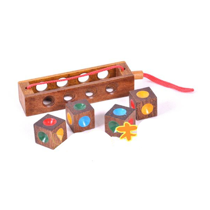 Toys For Grownups : Creative crazy four color combination brain teaser wooden