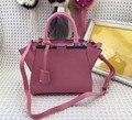 2016 famosa marca de bolsas de luxo mulheres sacos de designer de couro genuíno de alta qualidade mini 22 cm frete grátis REN ZHUO