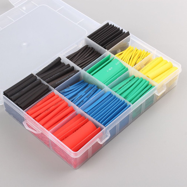 530pcs Polyolefin Heat Shrink Tube Ratio Tubing Insulation ...