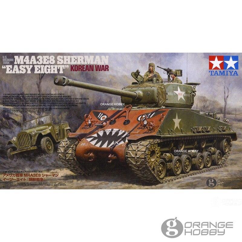 OHS Tamiya 35359 1/35 U.S. Medium Tank M4A3E8 Sherman Easy Eight Korean War Military Assembly AFV Model Building Kit G недорго, оригинальная цена