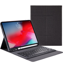 For iPad Pro 12.9 2018 Case Smart Wireless USA Keyboard PU Leather Flip Stand Cover For iPad Pro 12.9 Inch 2018 Case Pen Holder led backlight wireless bluetooth keyboard pu leather cover case stand holder for apple ipad pro 12 9 qjy99