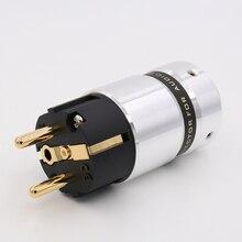 Hi End VE507G аудио Hi-End 24k позолоченный Schuko разъем питания DIY сетевой кабель питания