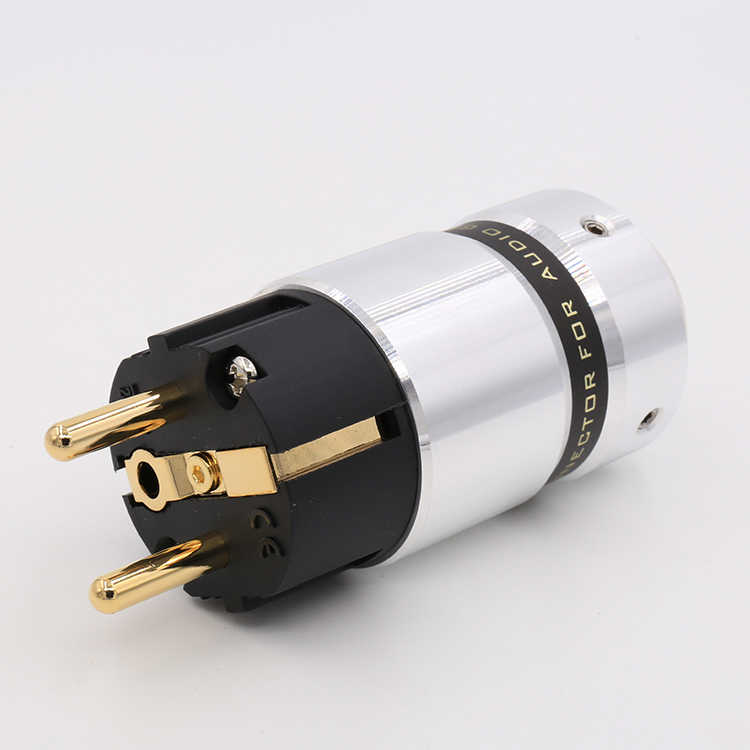 Hi End VE507G Audio Hi-End 24k Gold Plated Schuko Power plug DIY Mains power cable