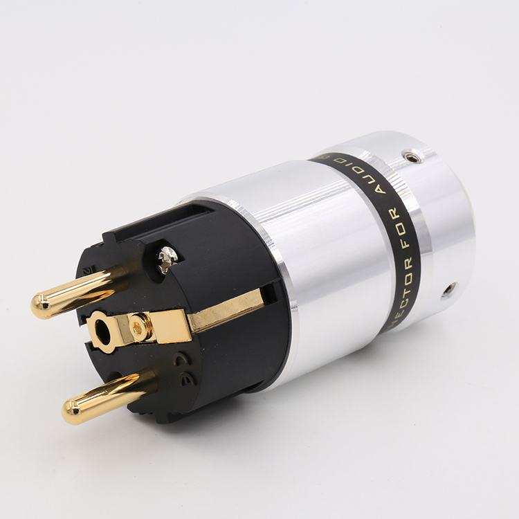 Salut Fin VE507G Audio Haut de gamme 24 k Plaqué Or Schuko prise De Courant BRICOLAGE câble d'alimentation Secteur