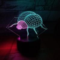 Sterne Schwimm Bug Visuelle Nacht 3d Licht Creative7 Farbe Touch Lade Led Stereo Schreibtisch Lampe Weihnachten kinder Tisch Lampen