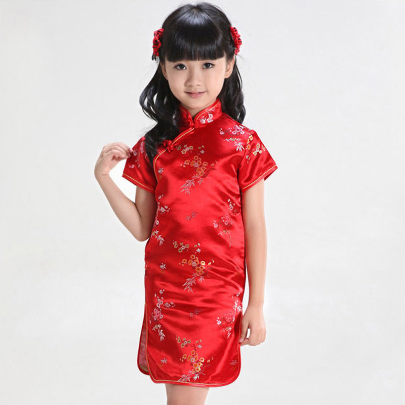 7676c883c2 Lovely Floral Baby Qipao Girl summer Dresses Kid Chinese Style chi-pao  cheongsam New Year gift Children s Clothes 0723