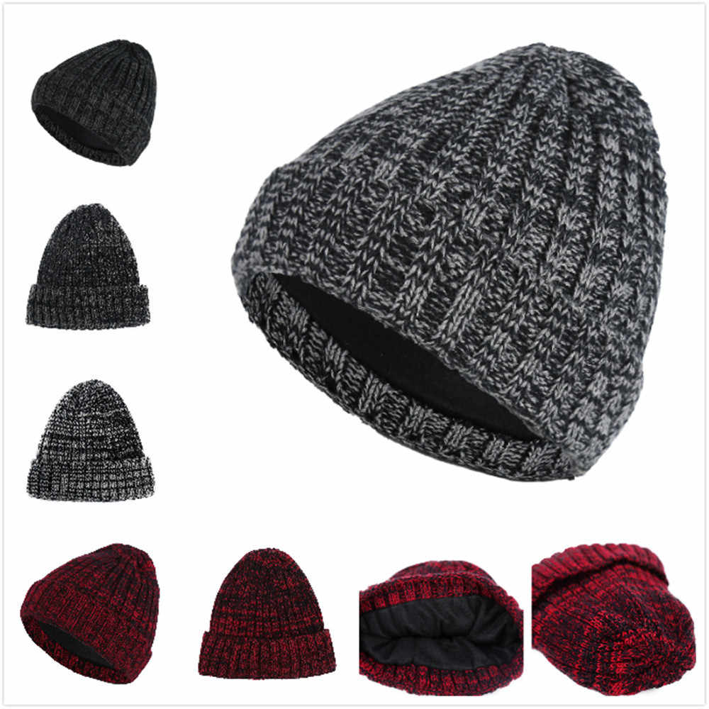 c4c309ffa 2019 new Fashion Winter Hats For Women Crochet Knit man Cap Skullies  Beanies Warm Caps Female Knitted Stylish Hat Ladies