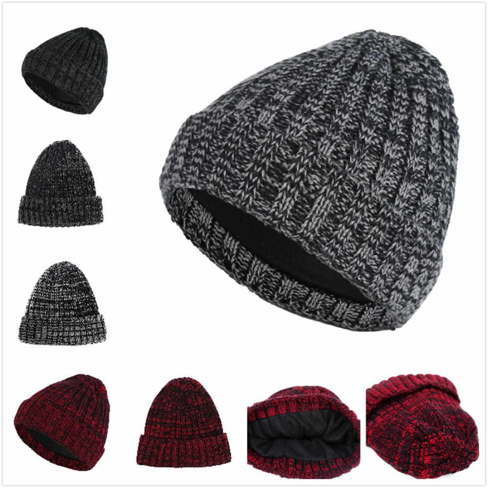 f5dbd98fec 2019 new Fashion Winter Hats For Women Crochet Knit man Cap Skullies  Beanies Warm Caps Female