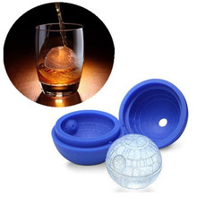 Silicone Ice Cube Mold Creative Wars Death Star Round Ball IceCube Mold Tray Desert Sphere Mould DIY Cocktail Forma De Gelo