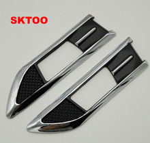 Sktoo сигнал поворота ABS гальванических сторона украшения окне лампа используется для Chevrolet Cruze 2009-2015 автомобильные аксессуары для укладки