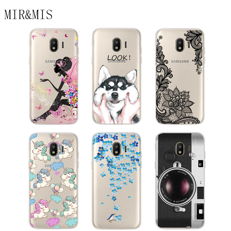 Galleria fotografica Case For Samsung Galaxy J2 2018 Transparent Printing Drawing Silicone Phone Cases Cover For Samsung Galaxy J2 2018 J250F J250