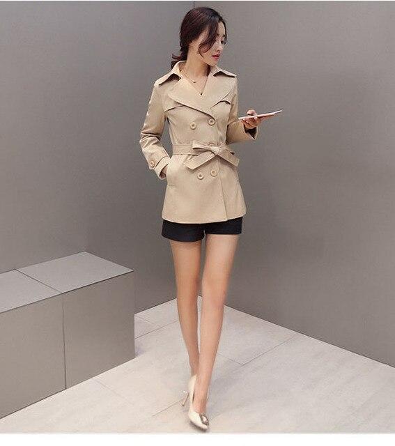 2016 autumn winter Fashion pure Cotton plus size M-4XL woollen coats double breasted 5 colors belt Style Slim woman trenth H26