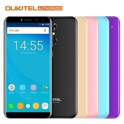 Original Oukitel C8 Mobile Phone 3G 5.5 '' 18:9 HD Screen phone Quad Core 2GB 16GB 13MP Android 7.0 3000mAh Touch ID Smartphone