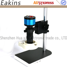 Wholesale prices 2 in 1 VGA AV Outputs 2.0MP HD Digital Industrial Microscope Camera PCB Repair Tool+100X C-mount Zoom Lens+Holder+56 LED Light