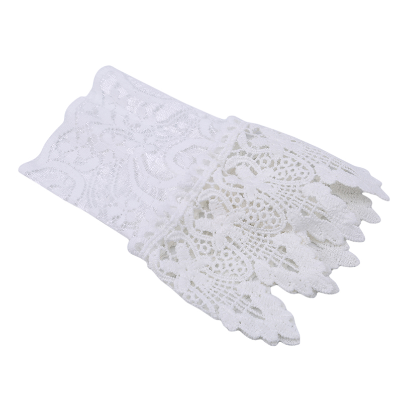 Good New Women Fake Arm Sleeves Organ Pleated Cuff Korean Beautiful Goddess Lace Hollow Hook Accessories Outdoor Apparel Arm Warmers Apparel Accessories