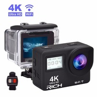 T350 Ultra FHD 4K Action Camera WiFi 1080P 60fps 2 0 LCD 170D Full HD 30M