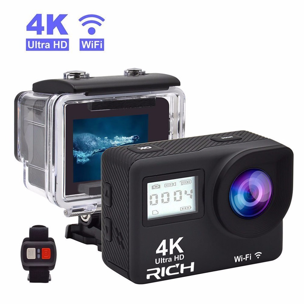 T350 ultra FHD 4K Action Camera WiFi 1080P 60fps 2.0 LCD 170D Full HD 30M WaterproofVideo Action DV Sports Camera