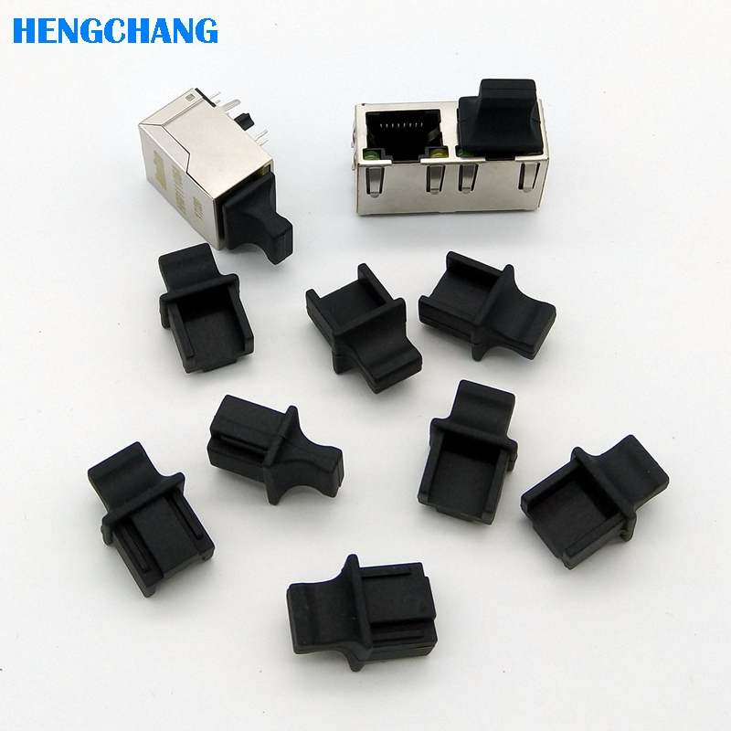 10pcs RJ45 Protective Rubber Cover Network Connector End Cap