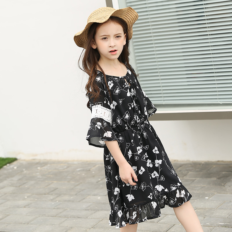 Party Girls Flowers Dresses for School Princess Boho Dress Girls Costume Kids Clothes Birthday Gift For 10 14 15 16 Years