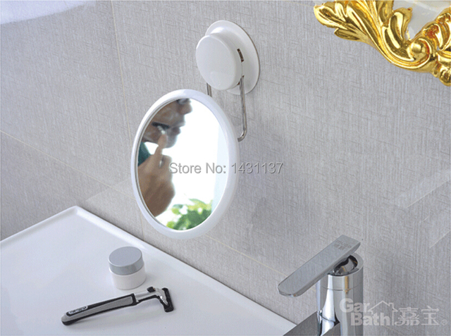 Free shipping new arrival high quality  German technology sucking ABS bathroom make up mirror with no need drilling on the wall