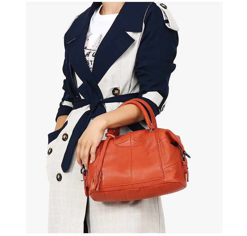 MJ Women Genuine Leather Handbag Female Real Cow Leather Tote Bag Ladies Large Capacity Shoulder Bag Crossbody Bags for Women (11)