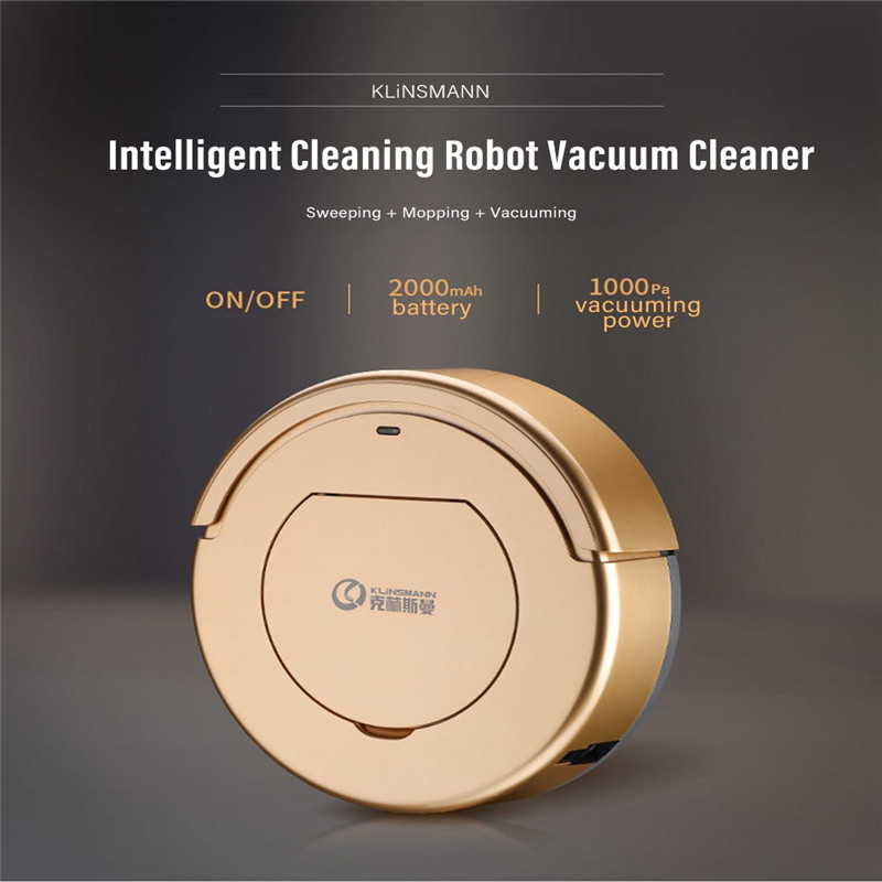 KLiNSMANN Smart Robot Vacuum Cleaner For Home 1000Pa Suction Aspiradora Automatic Cleaning Sweeper Household Aspirator Brand New недорого