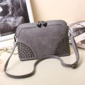 Fashion Solid Color Woman Bag Summer Women Shoulder Bag Rivet Clutches Women Messenger Bags PU Leather Sac Pochette Femme kb-081