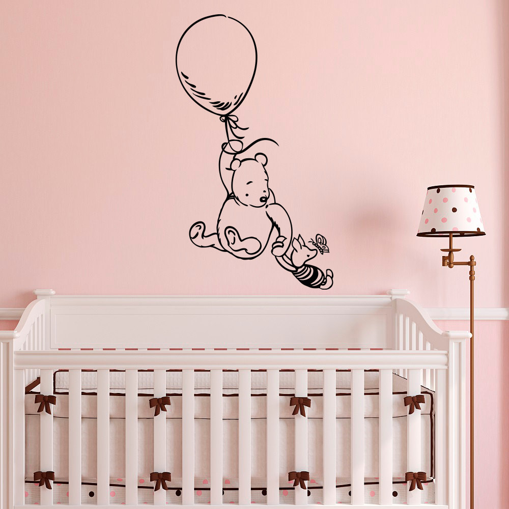 Winnie the pooh wall stickers for kids room classic winnie for Wall decals kids room